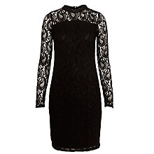 Buy Minimum Lace Fitted Dress, Black Online at johnlewis.com