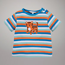 Buy John Lewis Baby Stripe Tiger Motif T-Shirt, Multi Online at johnlewis.com
