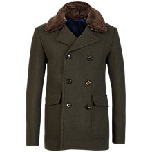 Buy Ted Baker Lolgren Virgin Wool Coat, Dark Khaki Green Online at johnlewis.com