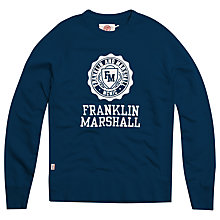 Buy Franklin & Marshall Crested Sweat Shirt Online at johnlewis.com