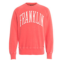 Buy Franklin & Marshall Logo Sweatshirt, Yale Red Online at johnlewis.com