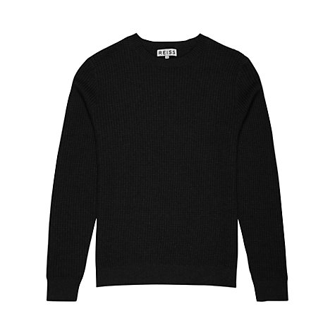 Buy Reiss Paddington Waffle Knit Jumper, Navy Online at johnlewis.com