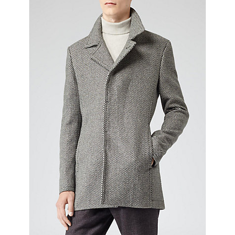 Buy Reiss Nelson Wool-Blend Jacket, Charcoal Online at johnlewis.com