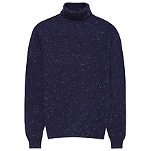 Buy Reiss Dasher Flecked Knit Roll Neck Jumper, Navy Online at johnlewis.com