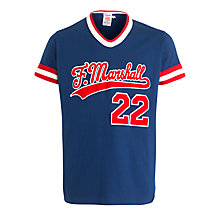 Buy Franklin & Marshall Baseball T-Shirt, Blue/Red Online at johnlewis.com