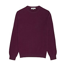 Buy Reiss Herald Cashmere Crew Neck Jumper, Aubergine Online at johnlewis.com