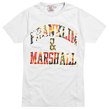 Buy Franklin & Marshall Floral Logo T-Shirt Online at johnlewis.com