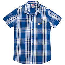 Buy Franklin & Marshall Check Short Sleeve Shirt, Blue Online at johnlewis.com