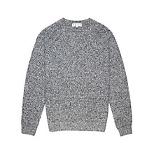 Buy Reiss Heston Crew Neck Wool Jumper, Navy/Grey Online at johnlewis.com