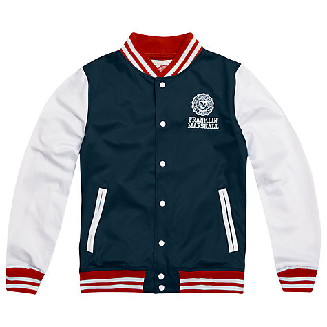 Buy Franklin & Marshall Varsity Baseball Jacket, Navy Online at johnlewis.com