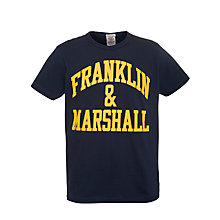 Buy Franklin & Marshall Arched Logo T-Shirt Online at johnlewis.com