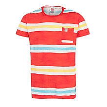 Buy Franklin & Marshall Striped Pocket T-Shirt, Red/Multi Online at johnlewis.com