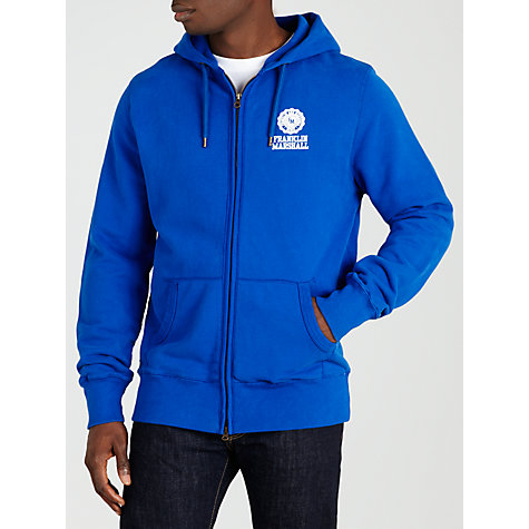 Buy Franklin & Marshall Crested Logo Hoodie, Blue Online at johnlewis.com