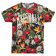 Buy Franklin & Marshall Floral Print Logo T-Shirt, Multi Online at johnlewis.com