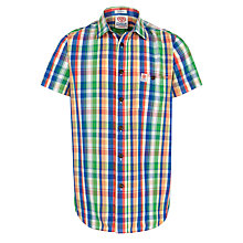 Buy Franklin & Marshall Madras Check Short Sleeve Shirt, Multi Online at johnlewis.com