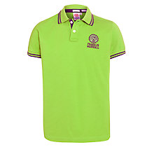 Buy Franklin & Marshall Stripe Detailed Polo Top, Green Online at johnlewis.com
