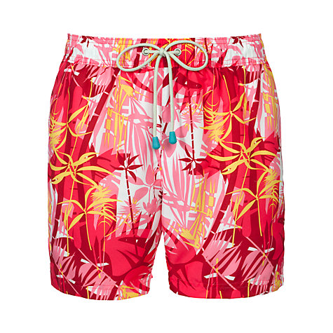 Buy Oiler & Boiler Classic Tropical Print Swim Shorts, Pink Online at johnlewis.com