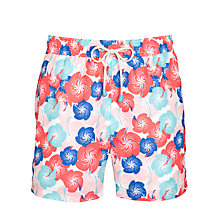 Buy Oiler & Boiler Floral Print Swim Shorts, Blue/Red Online at johnlewis.com