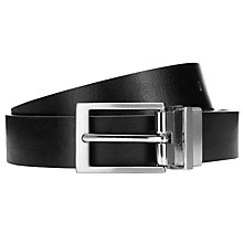 Buy Kin by John Lewis Reversible Block Leather Belt, Black/Red Online at johnlewis.com