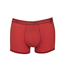 Buy Calvin Klein Underwear CK One Geo Wave Trunks, Red Online at johnlewis.com