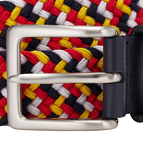 Buy John Lewis Woven Belt, Yellow/Red/White/Navy Online at johnlewis.com