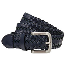 Buy John Lewis Plaited Leather Belt Online at johnlewis.com