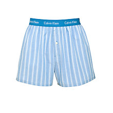 Buy Calvin Klein Underwear Optical Stripe Boxers, Blue Online at johnlewis.com