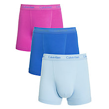 Buy Calvin Klein Underwear Stretch Cotton Trunks, Pack of 3, Multi Online at johnlewis.com