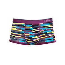 Buy Calvin Klein Underwear CK One Striped Micro Trunks, Purple/Multi Online at johnlewis.com