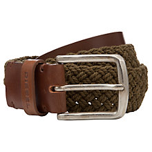 Buy Diesel Birrafia Woven Cotton Belt Online at johnlewis.com