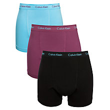 Buy Calvin Klein Underwear Low Cotton Trunks, 3 Pack, Multi Online at johnlewis.com