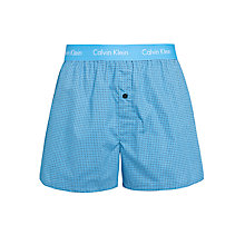 Buy Calvin Klein Underwear Woven Micro Square Boxers, Blue Online at johnlewis.com