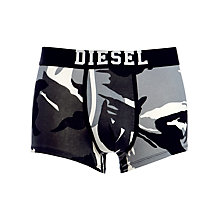 Buy Diesel Semako Camo and Plain Trunks, Pack of 2, Black/Grey Online at johnlewis.com