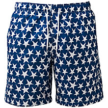Buy Franks Star Print Swim Shorts, Navy/White Online at johnlewis.com