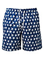 Franks Star Print Swim Shorts, Navy/White