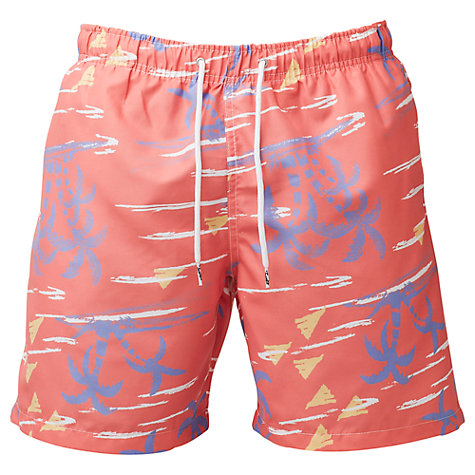 Buy Franks Palm Trees Swim Shorts, Red Online at johnlewis.com
