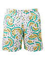 Franks Kiwi Print Swim Shorts, White/Green