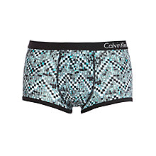 Buy Calvin Klein CK One Cotton Micro Painted Brick Trunks, Grey Online at johnlewis.com