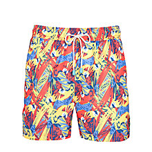 Buy Oiler & Boiler Parrot Print Swim Shorts, Multi Online at johnlewis.com