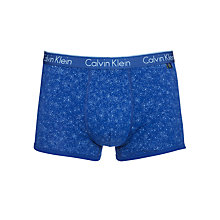 Buy Calvin Klein Underwear CK One Granite Print Trunks, Navy Online at johnlewis.com