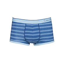 Buy Calvin Klein Underwear Optical Stripe Stretch-Cotton Trunks, Blue Online at johnlewis.com