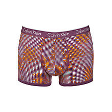 Buy Calvin Klein Underwear Triangle Print Cotton Trunks, Purple Online at johnlewis.com