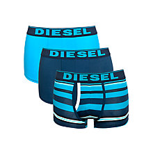 Buy Diesel Kody Stripe & Plain Boxer Trunks, 3 Pack Online at johnlewis.com