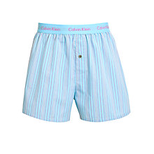 Buy Calvin Klein Underwear Woven Sound Stripe Boxers, Blue Online at johnlewis.com