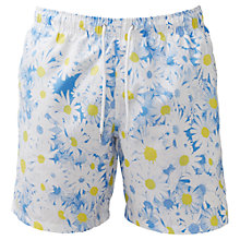 Buy Franks Daisy Print Swim Shorts, Blue/White Online at johnlewis.com