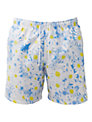 Franks Daisy Print Swim Shorts, Blue/White