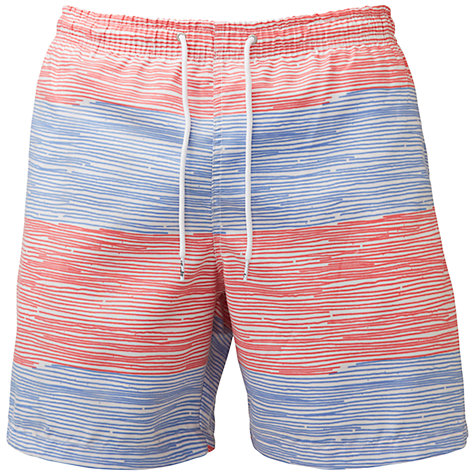 Buy Franks Stripe Swim Shorts, Red/Navy Online at johnlewis.com
