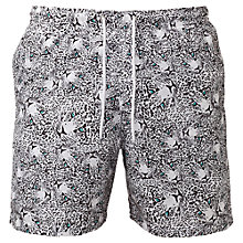 Buy Franks Leopard Print Swim Shorts, Grey Online at johnlewis.com