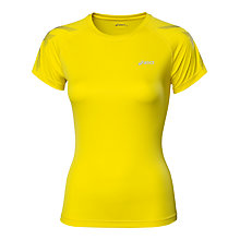 Buy Asics Tiger Short Sleeve T-Shirt, Yellow Online at johnlewis.com
