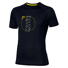 Buy Asics Love Running Graphic Short Sleeve T-Shirt, Black Online at johnlewis.com